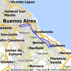 Cycling routes and bike maps in and around Villa Santa Rita