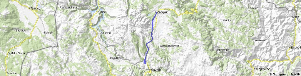 2016/1c Žabljak - Tunel- Skakavica