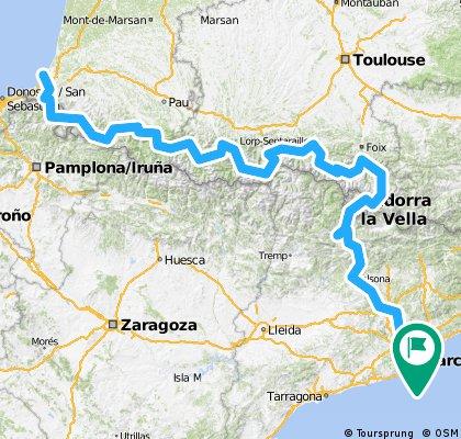 Biarritz - Barcelona 2016 Tour