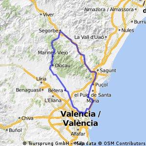 Valencia - Oloau - Gátova (Pico  de Águila) - Segorbe - Valencia