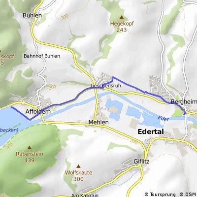 Im Edertal von Affoldern nach Bergheim