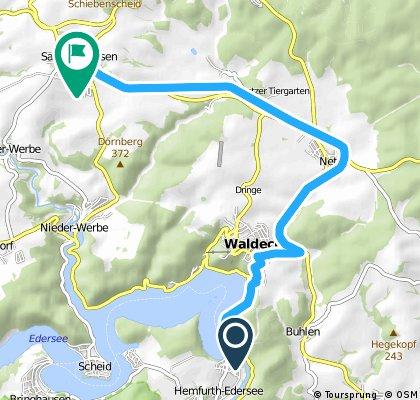 Vom Edersee über Waldeck zum Ederbahnradweg