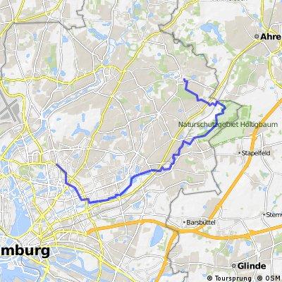 Hamburg: Volksdorf über Rahlstedt nach Barmbek