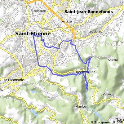 Saint-Etienne - Rochetaillée - Terrenoire