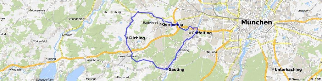 Germering-Alling-Gauting-Germering