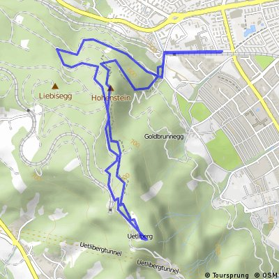 Cycling routes and bike maps in and around Canton of Zurich