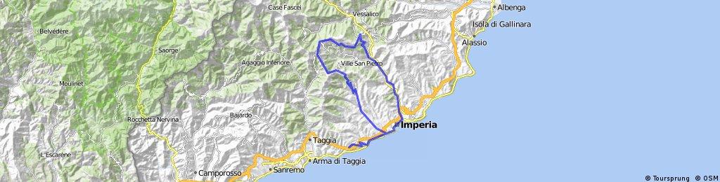 Cipressa-Caravonica 78 km 1600 Hm
