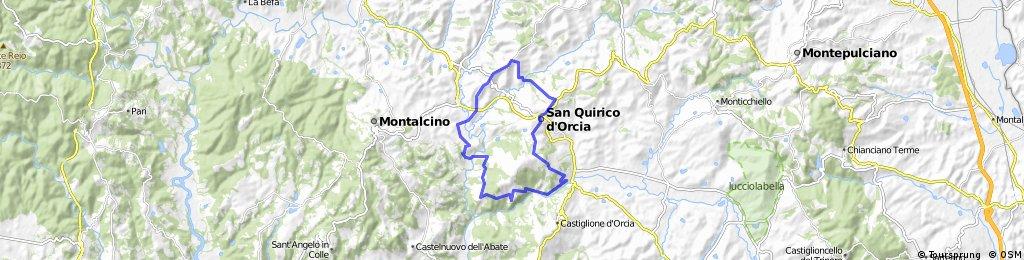 Bagno Vignoni  Bikemap - Your bike routes