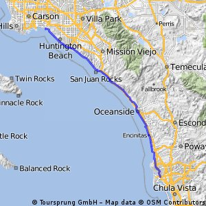 Cycling routes and bike maps in and around Seal Beach Bikemap