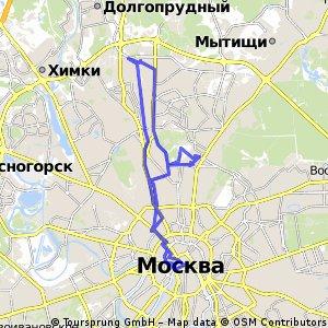 Лианозово - Красная площадь - ВДНХ