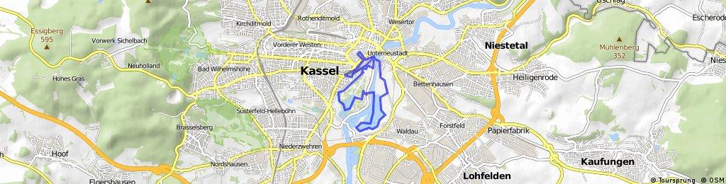 Kassel Dokumenta- Laufstrecke