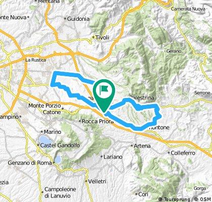 Zagarolo - Palestrina - Genazzano - Valmontone - Labico - S. Cesareo - Colonna - Finocchio - Valle Martella - Gallicano - Zagarolo