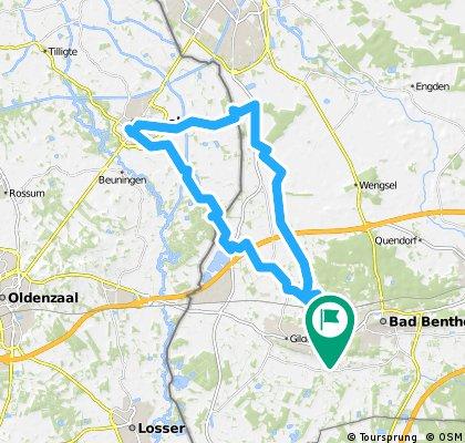 Route naar Denekamp
