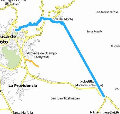 Vuelta a real del Monte y Tulancingo