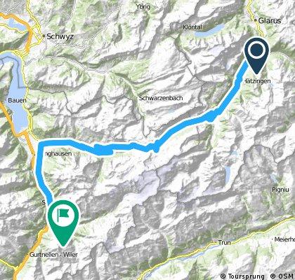 1. Alpentour/1. Etappe: Klausen-Pass