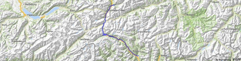 1. Alpentour/2. Etappe: Gotthard-Pass