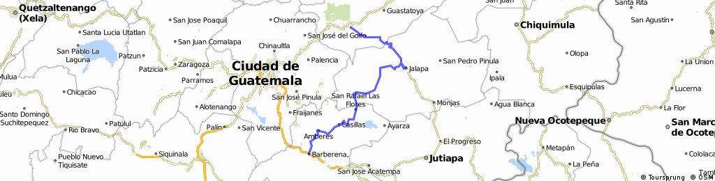 Sanarate- Jalapa- Mataquesquintla- Barberena