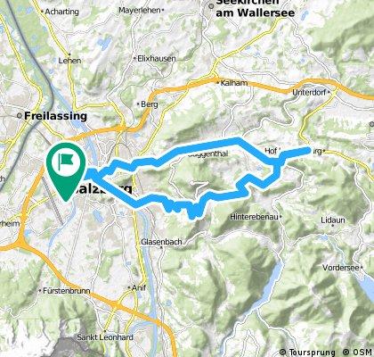 Rundfahrt Salzburg Maxglan - Hof bei Salzburg und retour