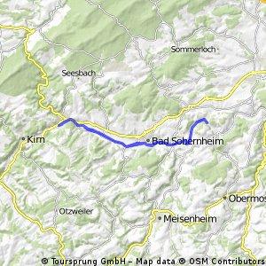 Naheradweg Hochstetten bis Schloßböckelheim und zurück