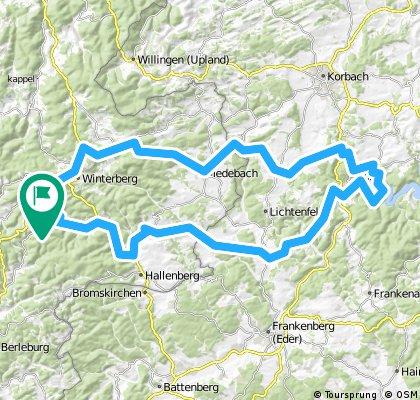 Bis Edersee 102 km