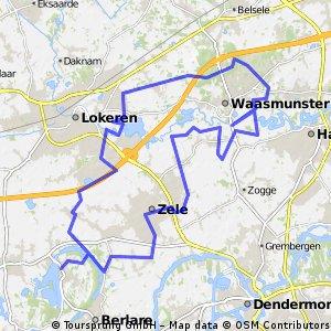 46km_Waasmunster - Donkmeer