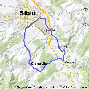 Sibiu - Cisnadie - Tocile - Vestem - Mohu - Bungard - Sibiu