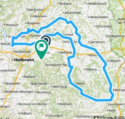 300 km Runde Kocher Jagst