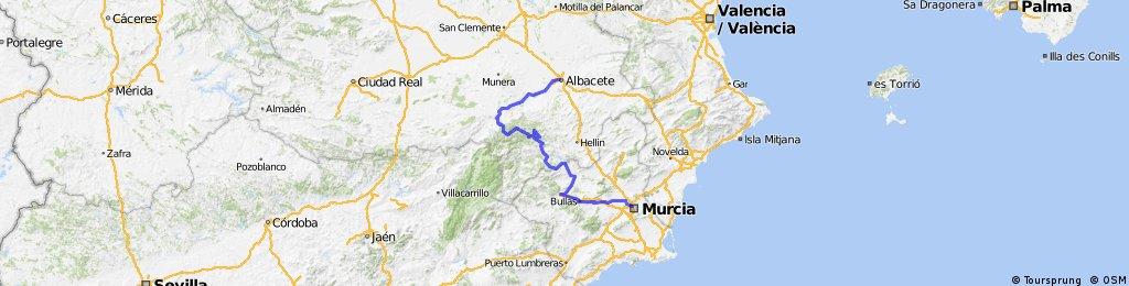"""Albacete-Murcia """"2 Vías Verdes y unas cuantas sierras"""""""