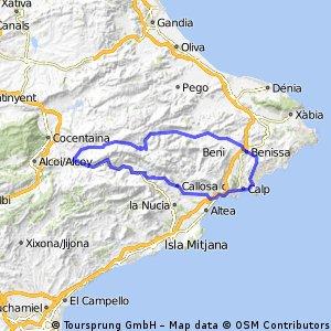 Costa Blanca 2016  Calpe - Guadelest - Calpe