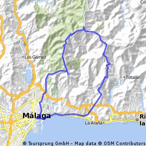 Malaga - Fuenta de la Reina - Olias - Malaga