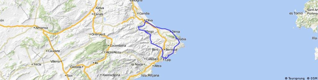 Costa Blanca 2016  12.04.16 Calpe-Oliva-Calpe