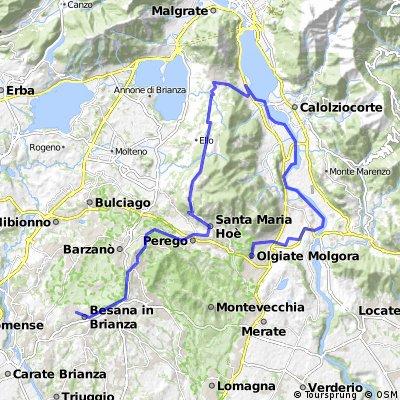 Giro nel basso Lecchese: Olgiate Molgora - Besana Brianza