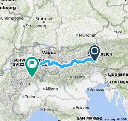 Čtyřboj Glockner 2504 m.n.m. Jaufen Pass 2094 m.n.m.Stelvio 2758 m.n.m. Furka Pass 2429 m.n.m.