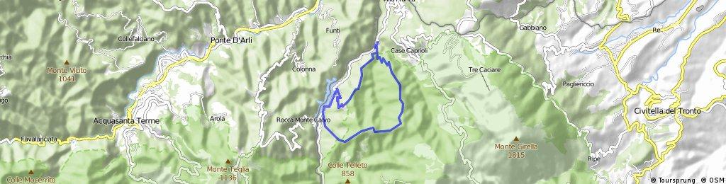 Casteltrosino (AP) •Da Settecerri verso Collegrato