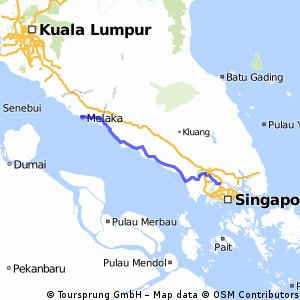 Singapore Malacca Bikemap Your Bike Routes