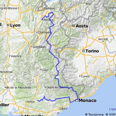 La ruta de los grandes Alpes