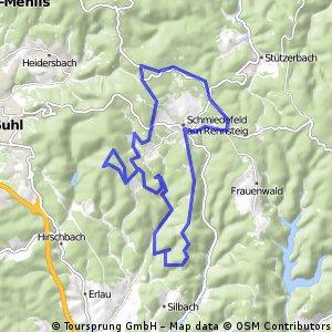 Thüringer Wald Vessertal Rund um Schmiedefeld am rennsteig