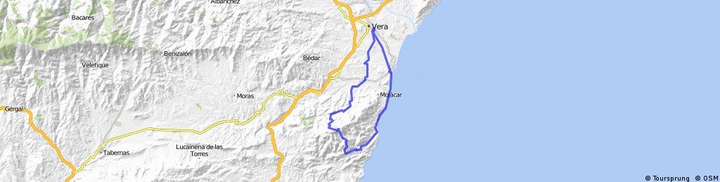 VERA-Las Alparatas-TURRE-Cortijo Cabrera-La Carrasca-Los Moralicos-La Adelfa-SOPALMO-GARRUCHA-VERA