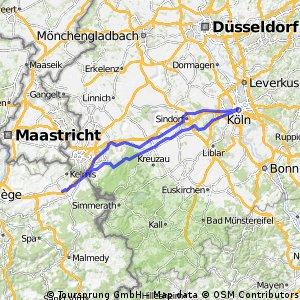 Köln und zuück - 177 km