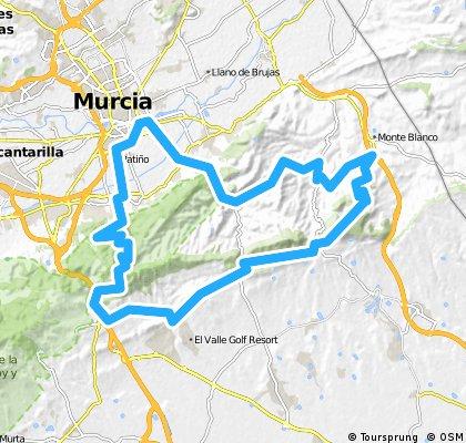 MURCIA CARRIL DE LOS PEREZ Y GONZALEZ CAMINO DE LOS MARTINEZ VENTA DE LOS PINOS ALTAHONA GARRUCHAL PUERTO DE LA CADENA EL SEQUEN MURCIA