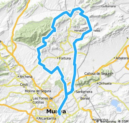 ARRIXACA 6 Murcia-Abanilla–Sierra de la Pila-Murcia