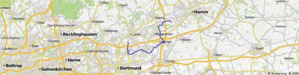 Lange Anfahrt via Reiterhof/ Kamen Süd
