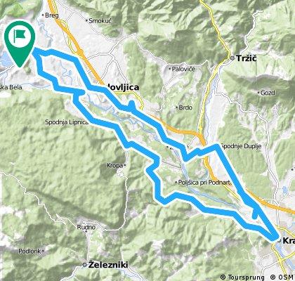 Bled - Kranj a zpět