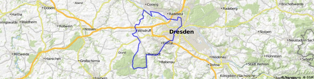 Dresden-Freital-Tharandter Wald-Wilsdruff-Coswig-Dresden
