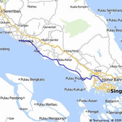 Cycling routes and bike maps in and around Johor Bahru Bikemap