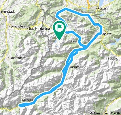 2016_Rad-Marathon_Tannheimer Tal_130km Strecke