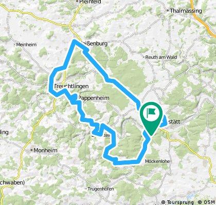 Altmühltal West: Eichstätt - Weißenburg