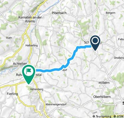 Schiedlberg - Rohr im Kremstal (Ortszentren, Umgehung von Hauptverkehrsstraßen)