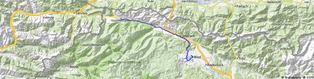 Kranjska gora - soutěska Vintgar -  Bled