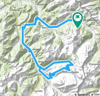 Alpentour '98/Etappe 5: LaChapelle - Corbier - Joux Verte/Avoriaz - Corbier - LaChapelle